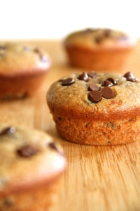 Flourless-Chocolate-Chip-Banana-Muffins
